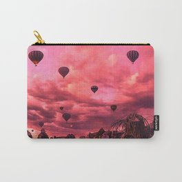 Hot Air Balloons On The Pink Sky Carry-All Pouch