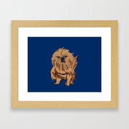 griffon dog Framed Art Print