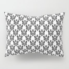 Halloween Damask White Pillow Sham