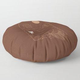 Lost Pony in Burnt Clay Floor Pillow