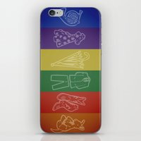 how i met your mother iPhone & iPod Skins featuring How I Met Your Colors by Derek W