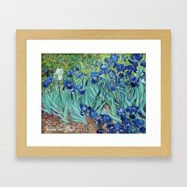 Famous art, Iris by Vincent van Gogh.   Framed Art Print