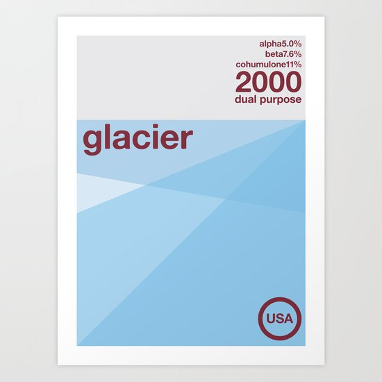 glacier single hop Art Print