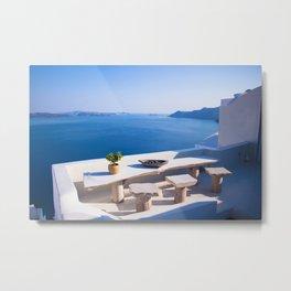 Oia, Greece #decor #buyart #society6 Metal Print