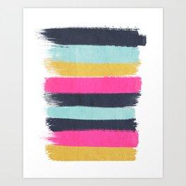 Inez - Brushstroke print in bold, modern colors Kunstdrucke