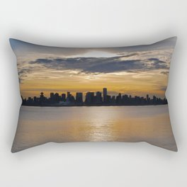 Downtown Sunset Rectangular Pillow