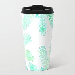 Leafy green allover pattern Travel Mug
