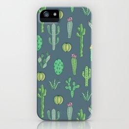 Cactus Pattern II iPhone Case