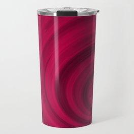 Red abstract pattern Travel Mug