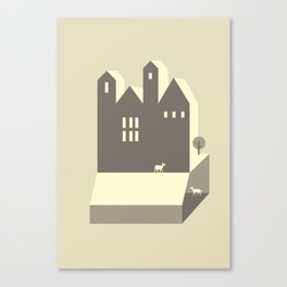 Small houses Canvas Print