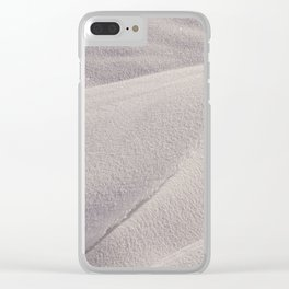 Snowdrifts in winter Clear iPhone Case