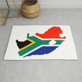 South Africa Map with South African Flag Rug