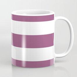 Sugar Plum - solid color - white stripes pattern Coffee Mug