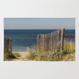 Path to beach Rug
