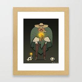 You keep me warm - Dia de los muertos Framed Art Print