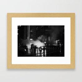 Fifth Avenue Nights Framed Art Print