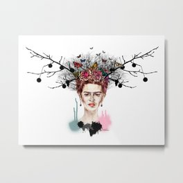 The Little Deer - Frida Kahlo Metal Print