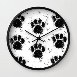 Pawprint Love Wall Clock
