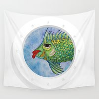 hook Wall Tapestries featuring Capitan Hook by Caribbean Critters Co.