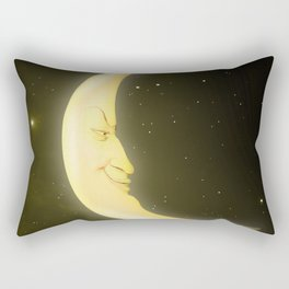 Face of the Crescent Moon Rectangular Pillow