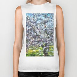 Almond Blossom Biker Tank