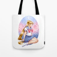 sailormoon Tote Bags featuring Sailor moon by Roots-Love