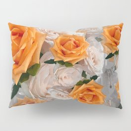 CORAL ROSES AND CHERRY BLOSSOMS Pillow Sham