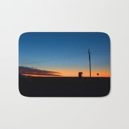 Outback sunset Bath Mat