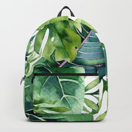 Tropical Jungle Leaves Rucksack