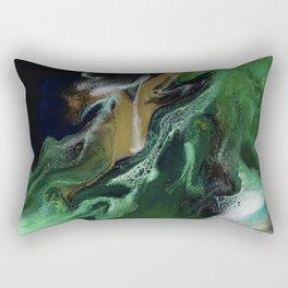 Trimeresurus Stejnegeri - green fluid abstract Resin Art Rectangular Pillow