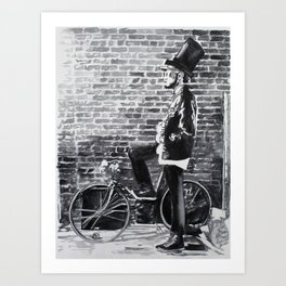 Hipster Lincoln Art Print