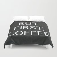coffee Duvet Covers featuring Coffee by eARTh