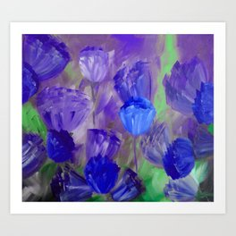 Breaking Dawn in Shades of Deep Blue and Purple Art Print