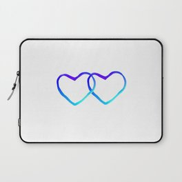 Blue Heart Laptop Sleeve