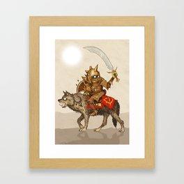 Goblin & Wolf cavalry Framed Art Print