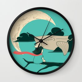 Did you see the whale in flight Wall Clock