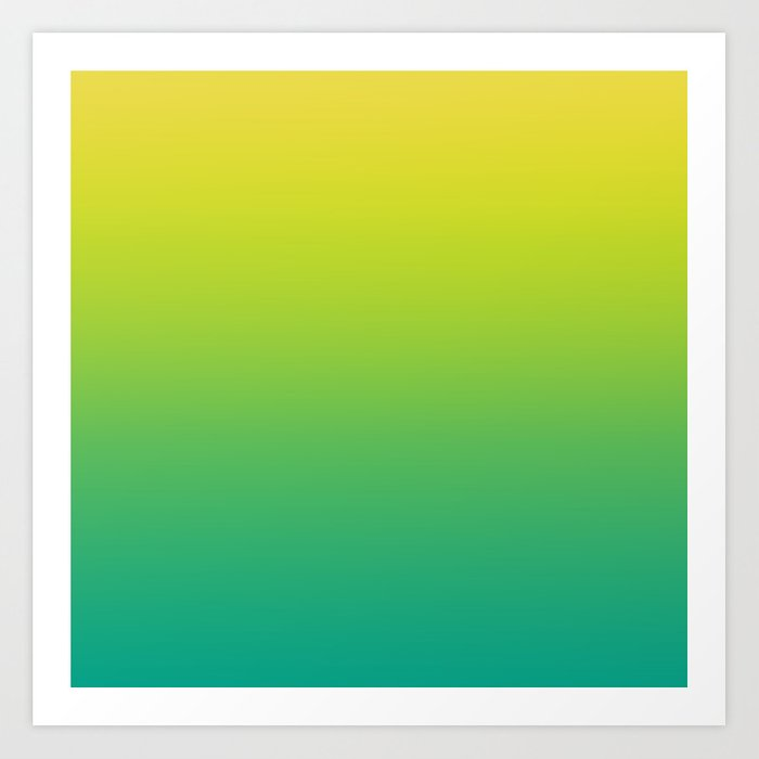 f0610fa7825f Meadowlark, Lime Punch, Arcadia Blurred Minimal Gradient | Pantone colors of  the year 2018 Art Print