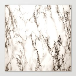 Brown Veined Marble Canvas Print