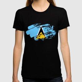Saint Lucia Flag Tshirt T-shirt