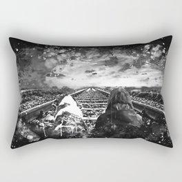 wanderlust wsbw Rectangular Pillow