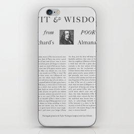 Wit & Wisdom from Poor Richard's Almanack iPhone Skin
