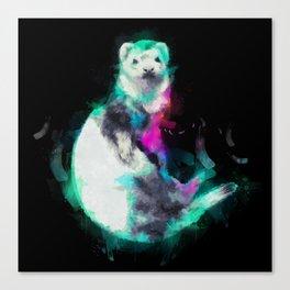 Painted Ferret Canvas Print
