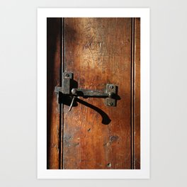 Antique Wooden Door, Circa 1840 Art Print