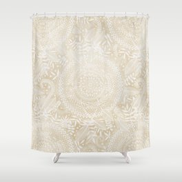 Medallion Pattern in Pale Tan Shower Curtain
