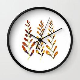 Manx Flora #1 - Wild Crocosmia Wall Clock
