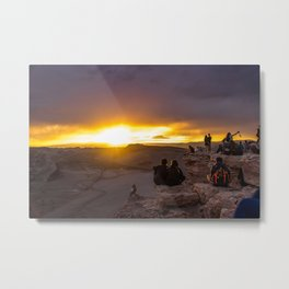 Sunset at Atacama Desert Metal Print