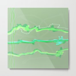 Fluffy lines twisting and turning no. 19 Metal Print
