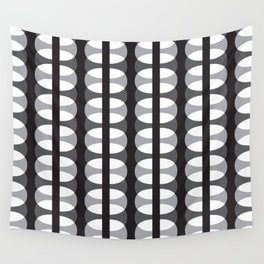 Geometric Pattern #186 (gray ovals) Wall Tapestry