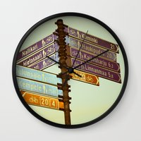 finland Wall Clocks featuring Oh, Suomi (Finland) by Kim Ramage