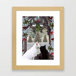 Christmas Kitties Framed Art Print